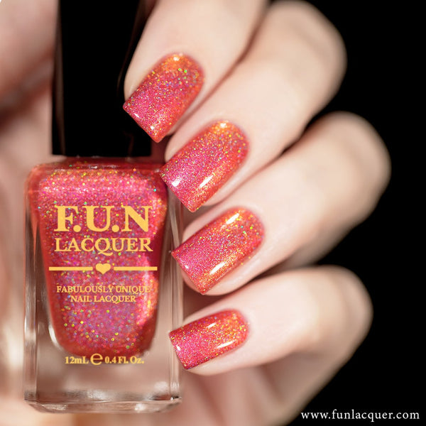 Fireplace Color Shifting Holographic Nail Polish