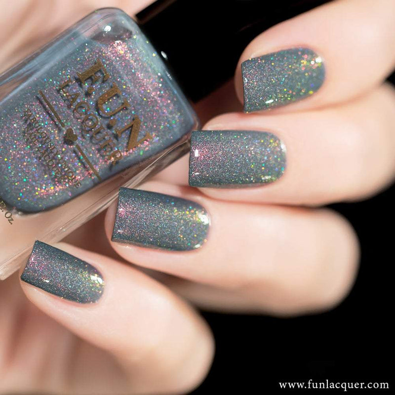 Foggy Best Grey Holographic Nail Polish