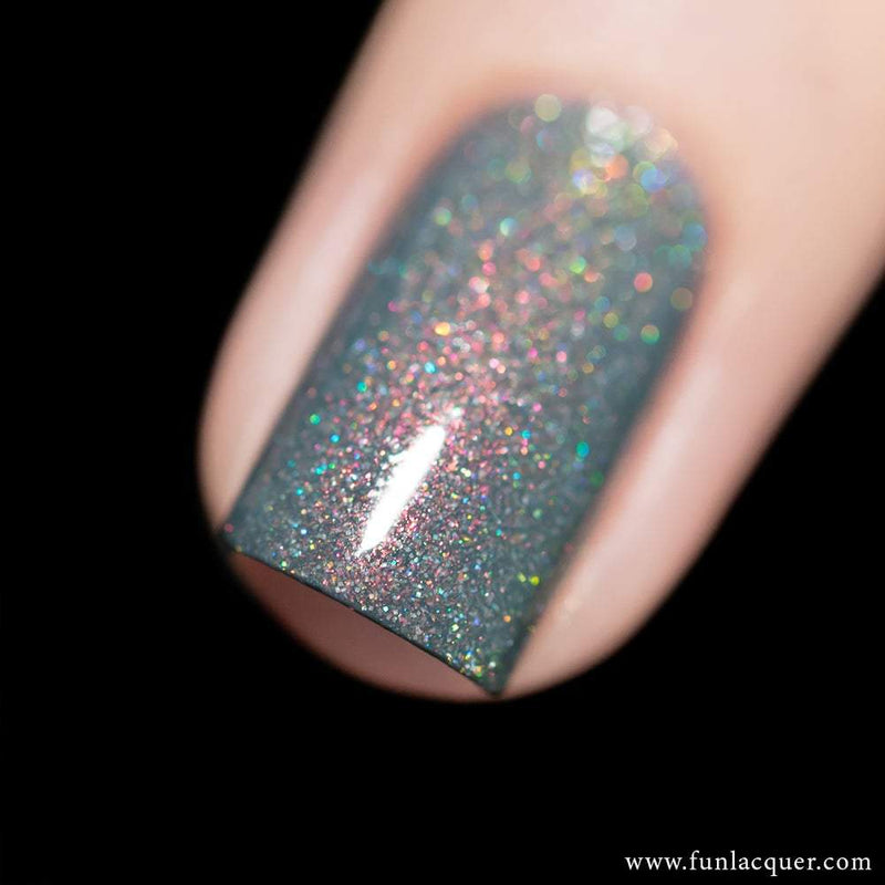 Foggy Grey Holographic Nail Polish