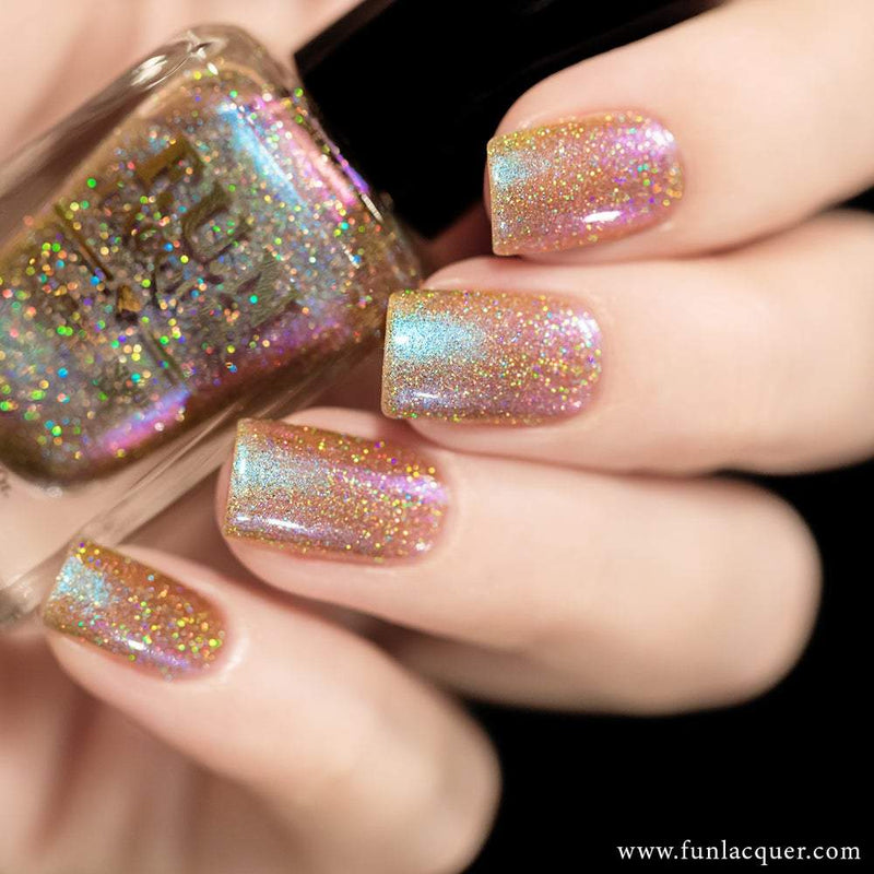 Lavender (H) Purple Iridescent Color Shifting Holographic Nail Polish
