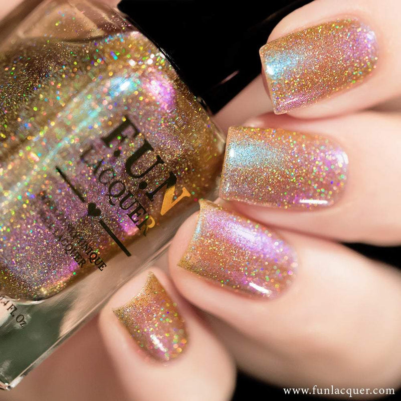 Lavender (H) Purple Color Shifting Holographic Nail Polish