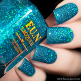 Lifestyle Ocean Blue Holographic Glitter Nail Polish