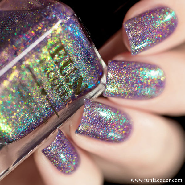 Lollipop Purple Color Shifting Holographic Nail Polish