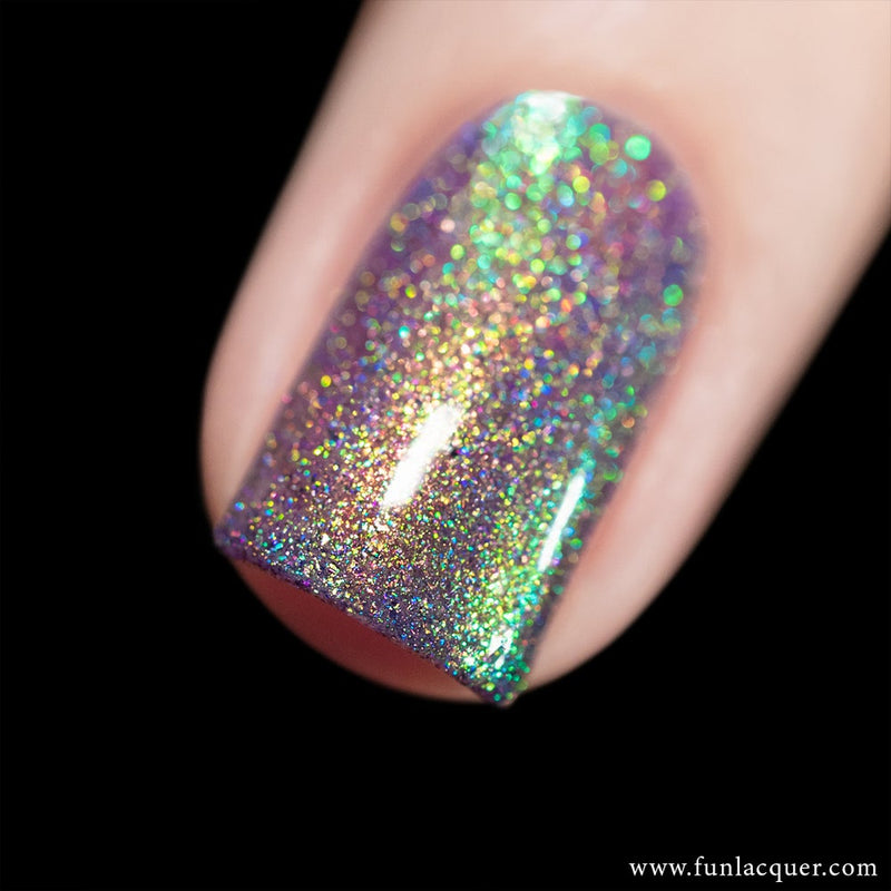Lollipop Purple Unicorn Color Shifting Holographic Nail Polish