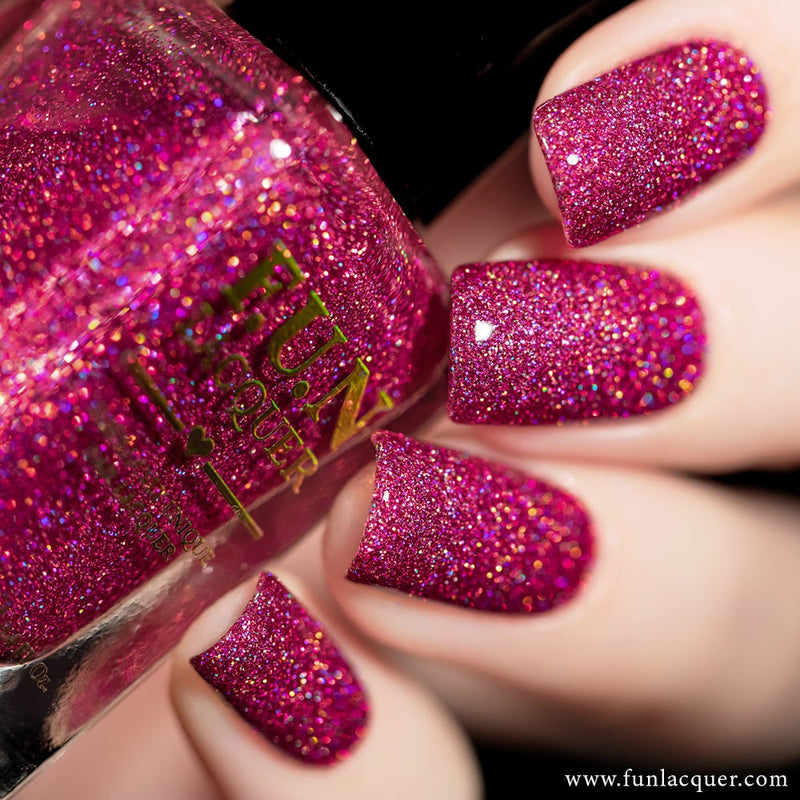 Love is 100% Fat Free Pink Holographic Nail Polish