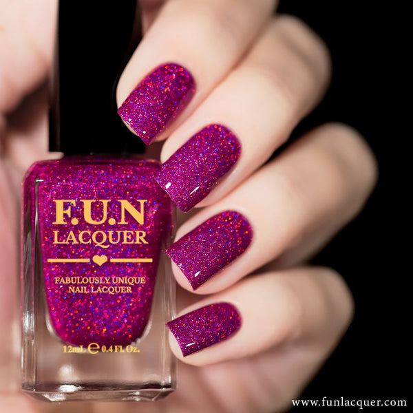 Love Potion Fuchsia Holographic Glitter Nail Polish