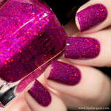 Love Potion Fuchsia Purple Holographic Glitter Nail Polish