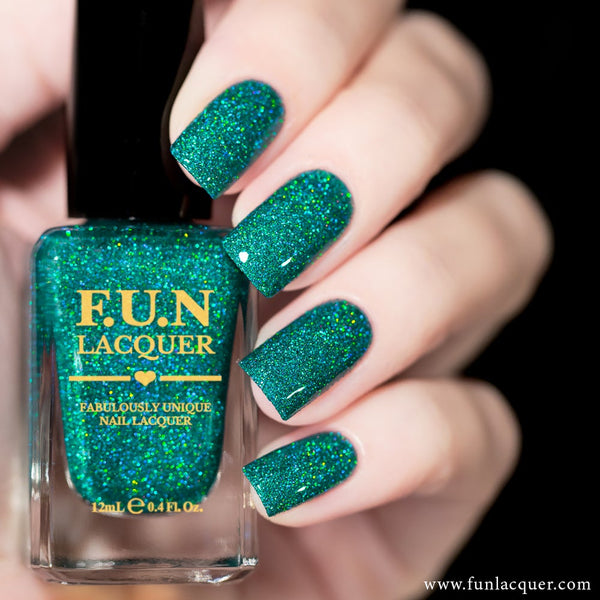 Lucky Girl Green Holographic Glitter Nail Polish