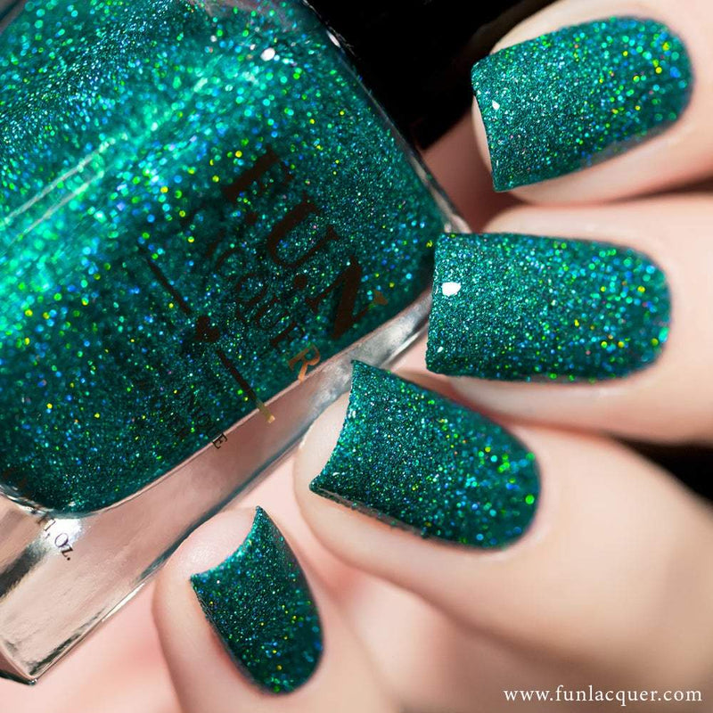 Lucky Girl Green Holo Glitter Nail Polish
