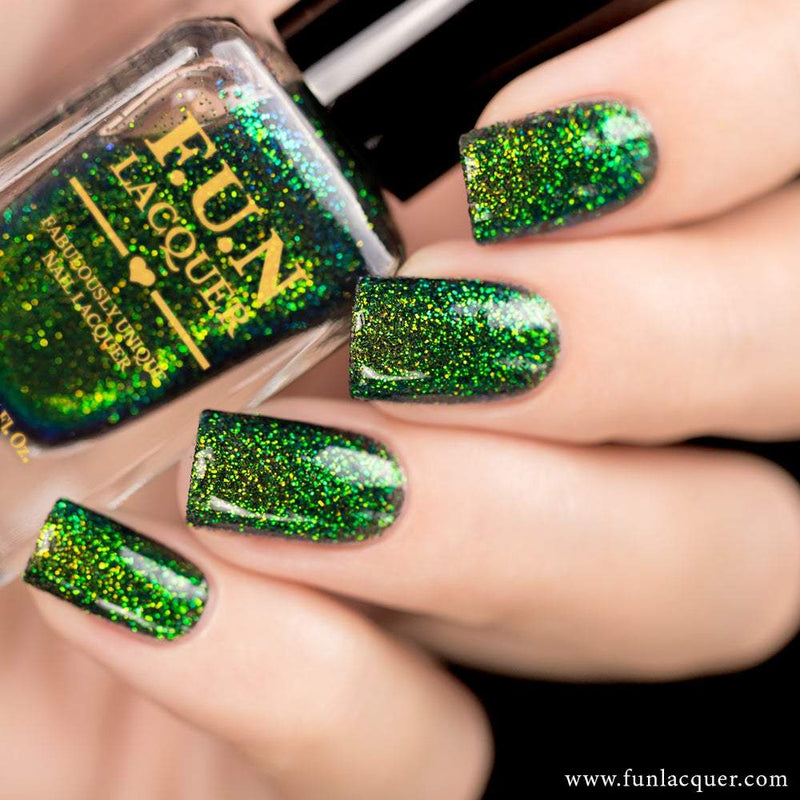 Magical Green Color Shifting Glitter Nail Polish