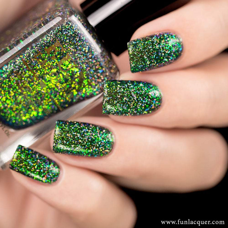 Magical (H) Green Color Shifting Holographic Glitter Nail Polish