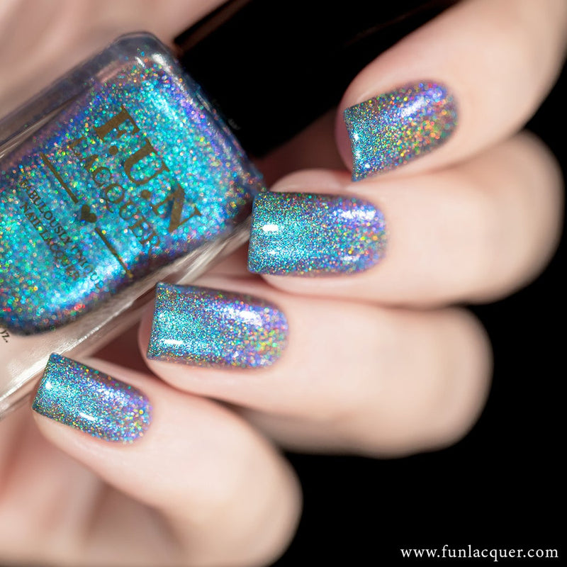Magician Sky Blue Color Shifting Holographic Nail Polish