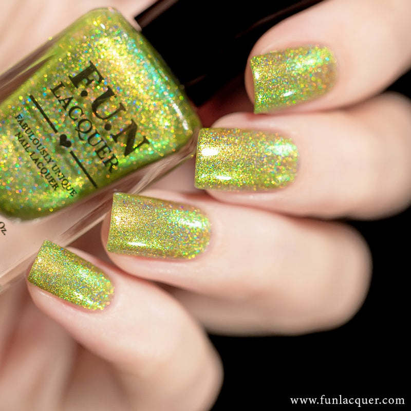 Mint Lime Tea Lime Color Shifting Holographic Nail Polish