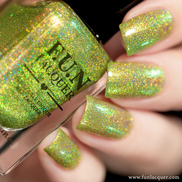 Mint Lime Tea Green Color Shifting Holographic Nail Polish
