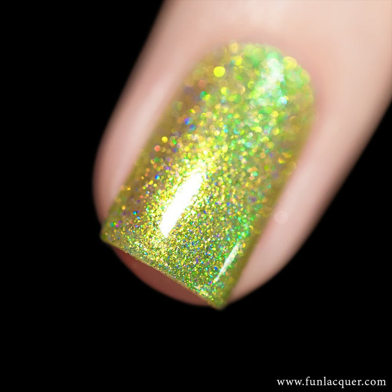 Mint Lime Tea Color Shifting Holographic Nail Polish