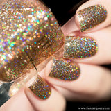 My Favourite Champagne Gold Holographic Glitter Polish