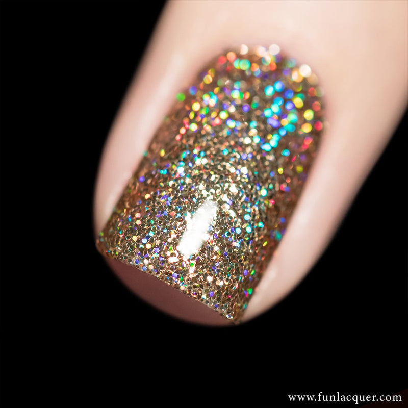 My Favourite Champagne Gold Holographic Glitter Nail