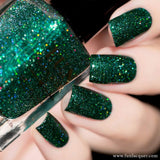 Ornament Green Metallic Holographic Nail Polish