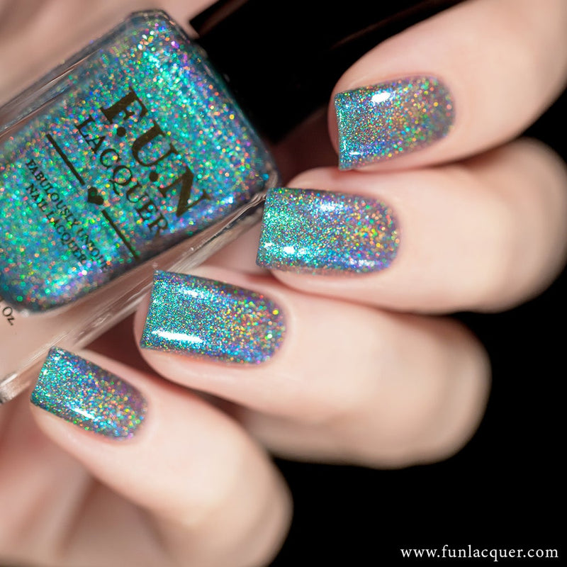 Peacock Teal Color Shifting Holographic Nail Polish