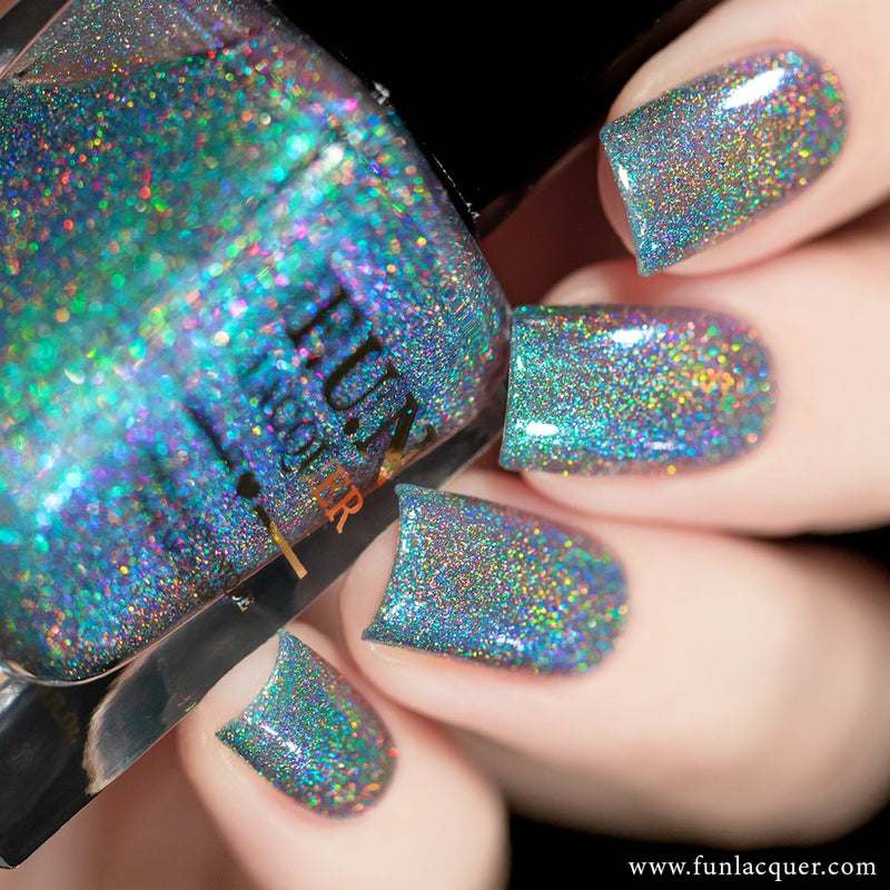 Peacock Green Color Shifting Holographic Nail Polish