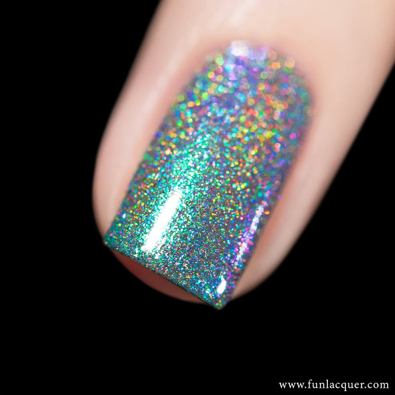Peacock Blue Color Shifting Holographic Nail Polish