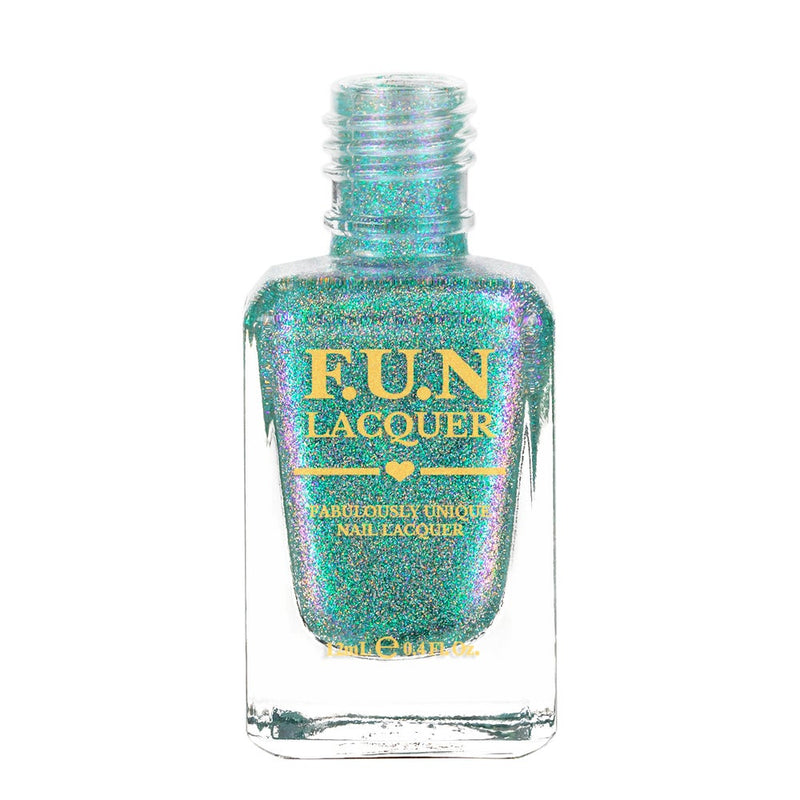 Peacock Best Teal Color Shifting Holographic Nail Polish