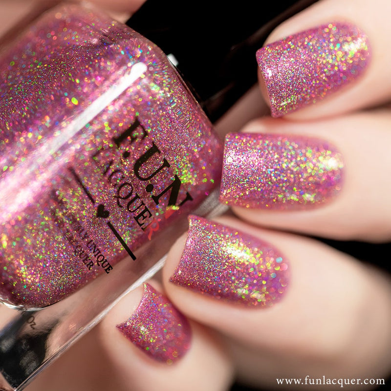 Phoenix Pink Color Shifting Holographic Nail Polish