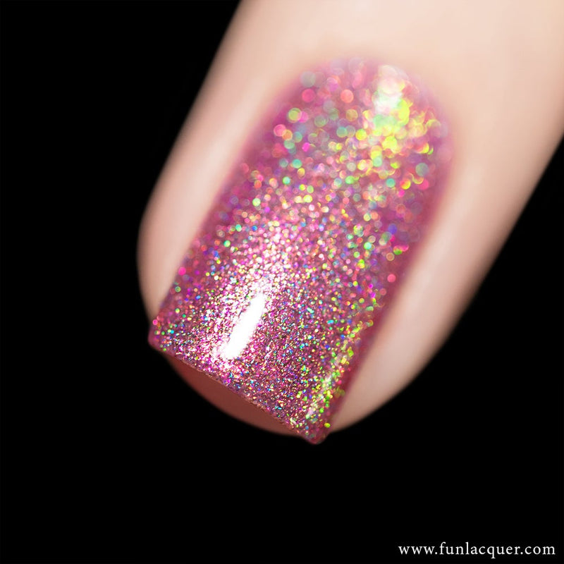 Phoenix Pink Gold Color Shifting Holographic Nail Polish
