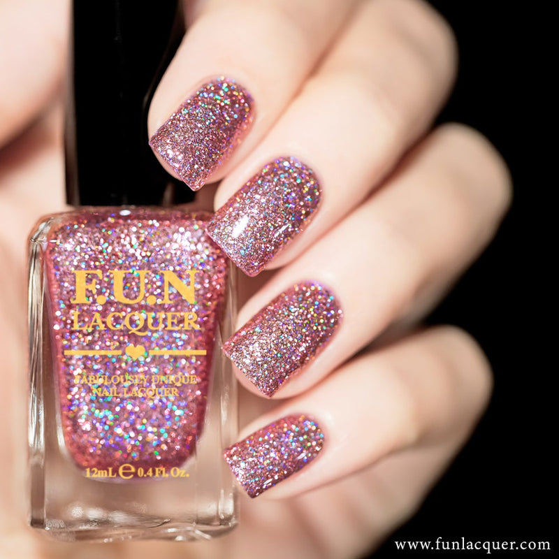 Pinky Promise Holographic Glitter Nail Polish