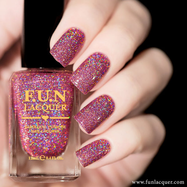 Precious Moment Pink Holographic Glitter Nail Polish
