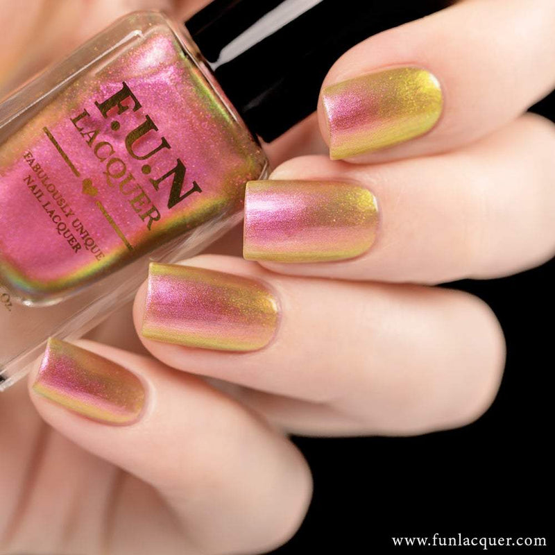Sakura Best Pink Color Shifting Iridescent Nail Polish