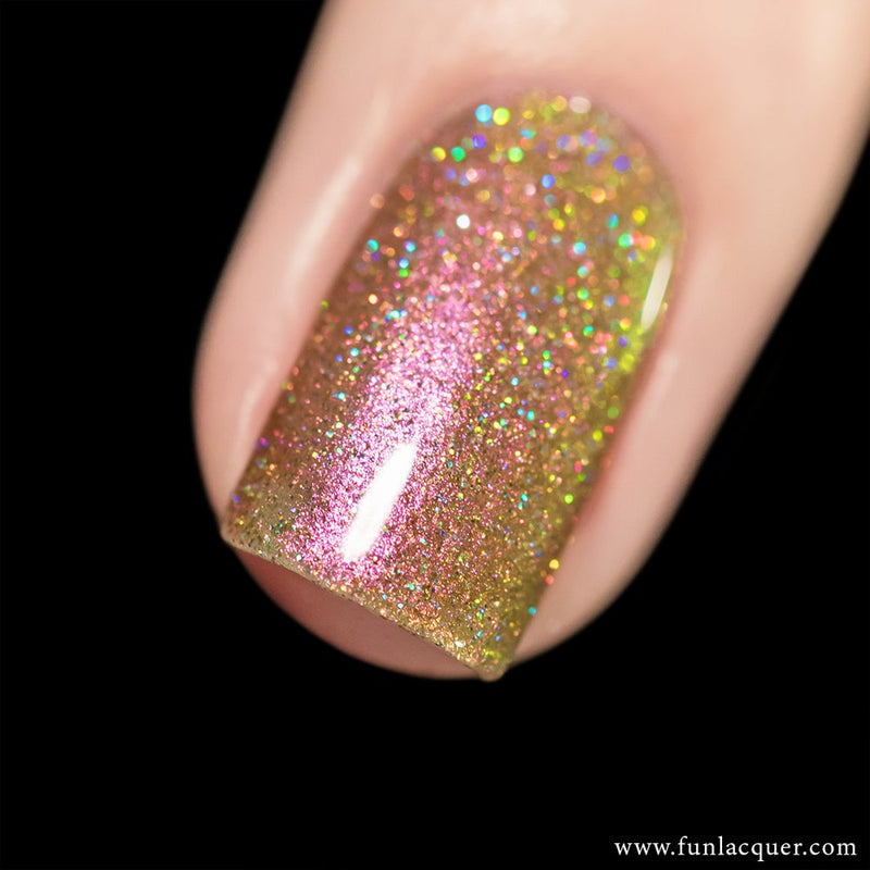 Sakura (H) Pink Color Shifting Holographic Glitter Nail Polish