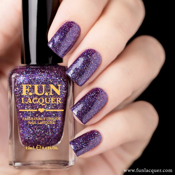 Stargazing Purple Metallic Holographic Nail Polish