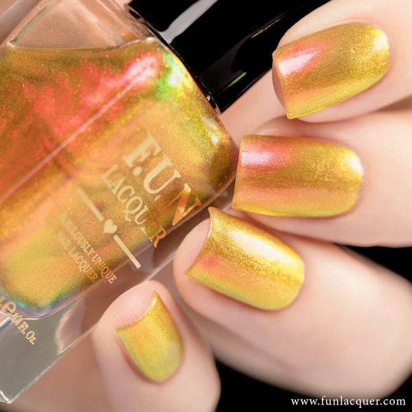 Sunset Orange Color Shifting Iridescent Nail Polish