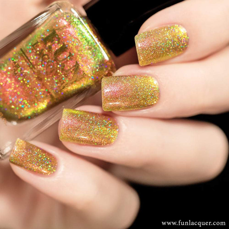 Sunset (H) Orange Gold Color Shifting Holographic Nail Polish