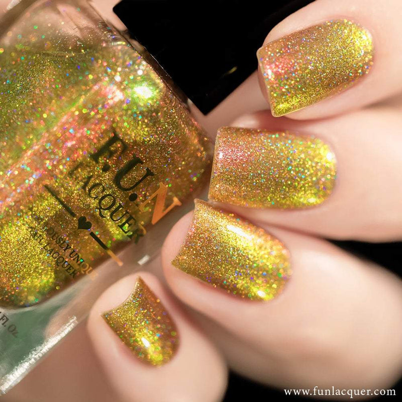 Sunset (H) Orange Color Shifting Holographic Nail Polish