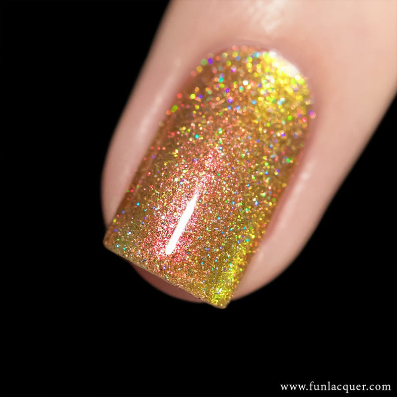 Sunset (H) Best Orange Color Shifting Holographic Nail Polish
