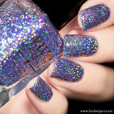 Top 1 Percent Lavender Holographic Glitter Nail
