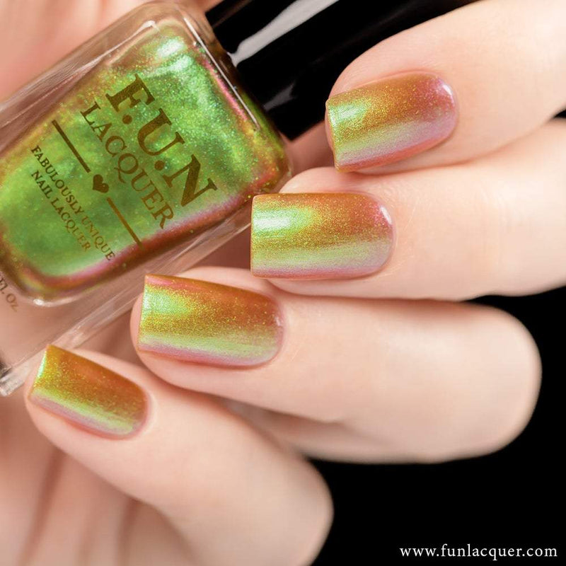 Uniphant Best Green Color Shifting Iridescent Nail Polish