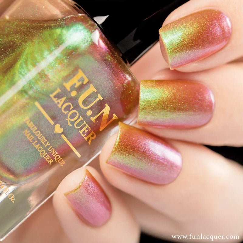Uniphant Green Color Shifting Iridescent Nail Polish