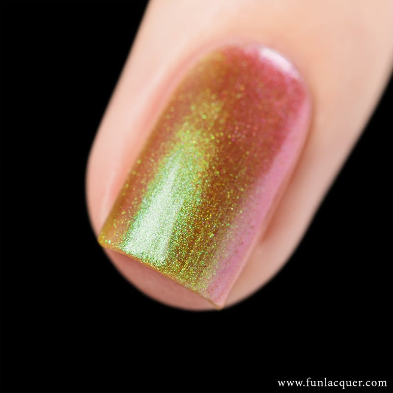 Uniphant Green Gold Color Shifting Iridescent Nail Polish