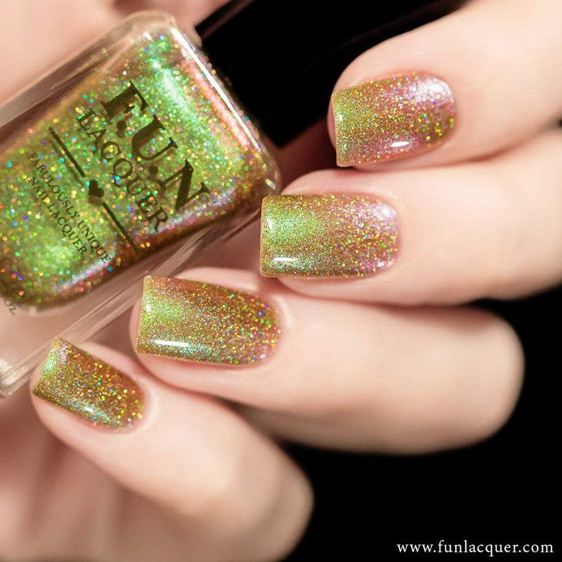 Uniphant (H) Best Green Color Shifting Holographic Nail Polish