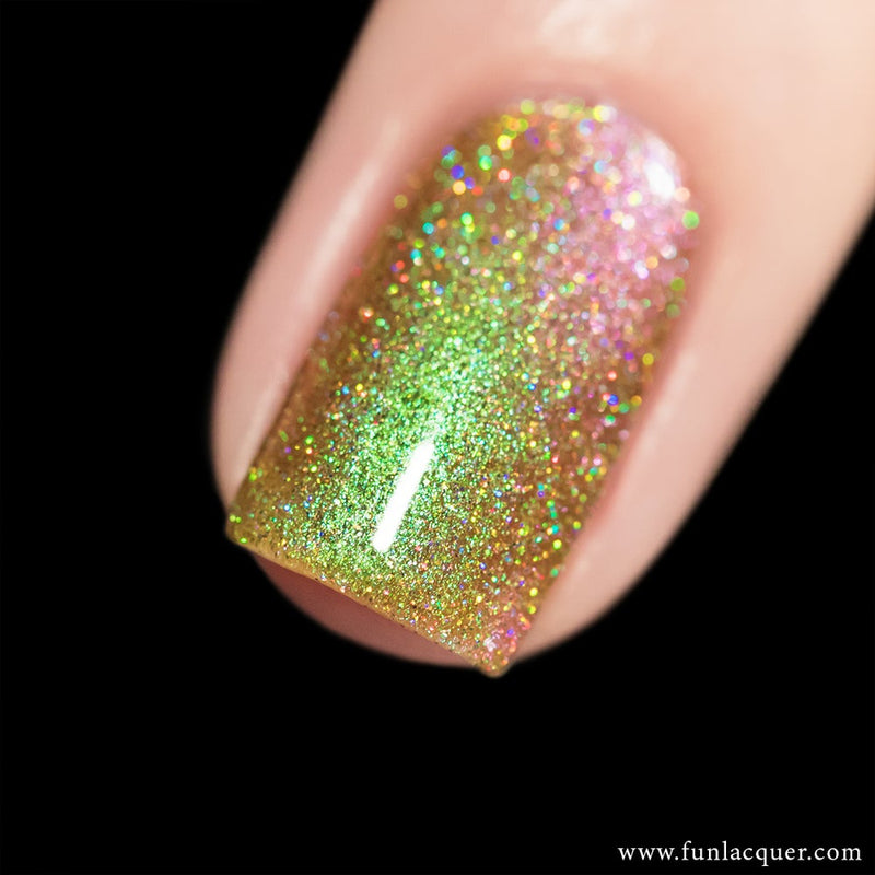 Uniphant (H) Green Color Shifting Holographic Glitter Nail Polish