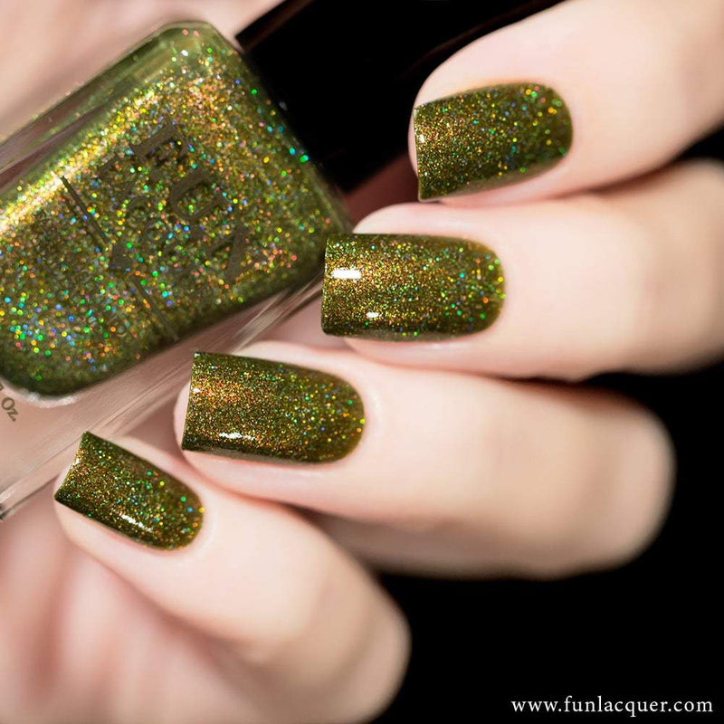 Woods Best Green Holographic Nail Polish