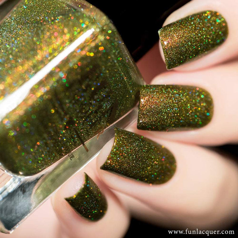 Woods Best Green Holo Nail Polish