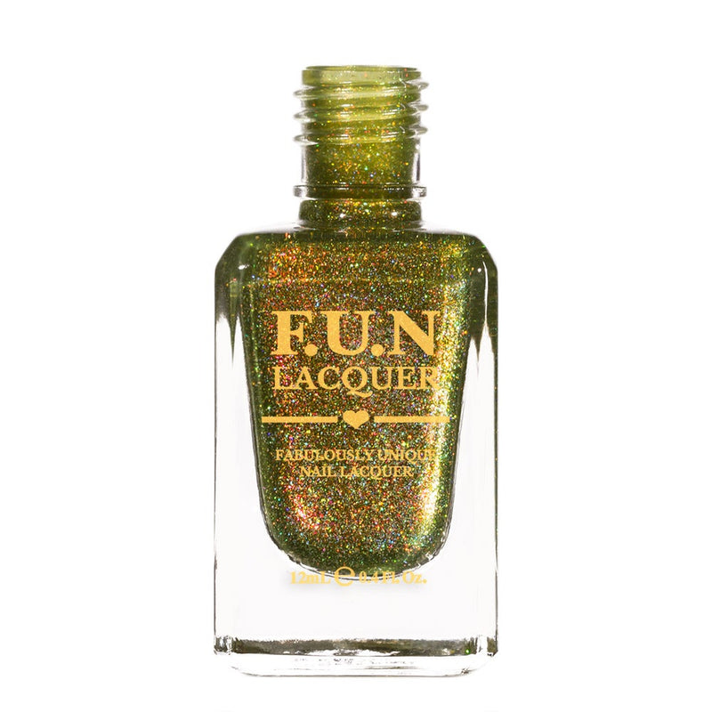 Woods Green Holographic Nail Polish