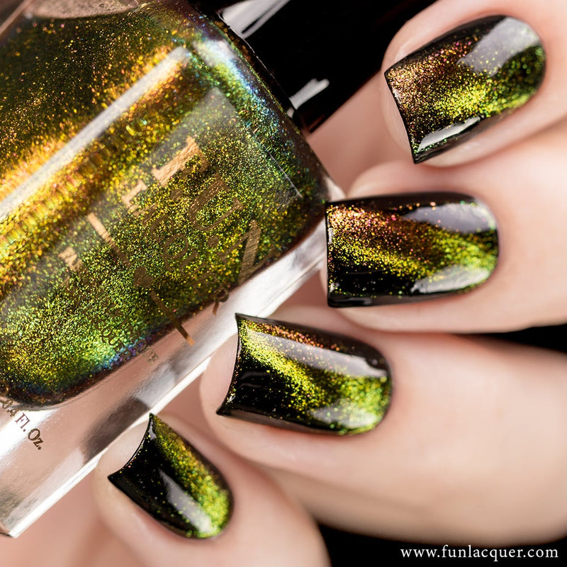 Obsessed Multichrome Magnetic Flakie Cat Eye Nail Polish