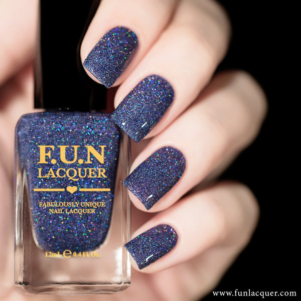 Rendezvous Midnight Blue Holographic Glitter Nail Polish