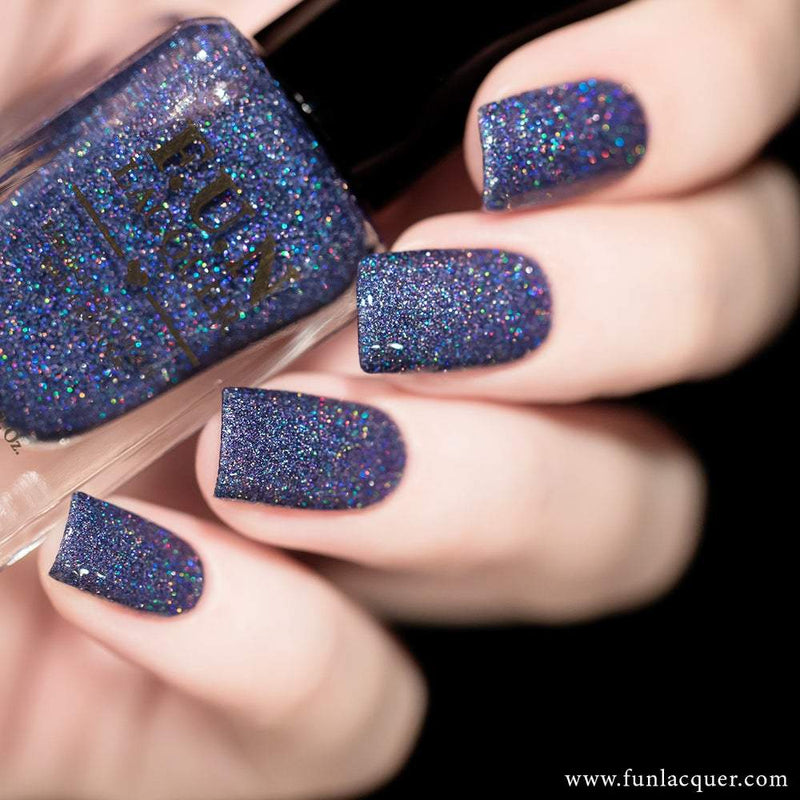 Rendezvous Purple Blue Holographic Glitter Nail Polish