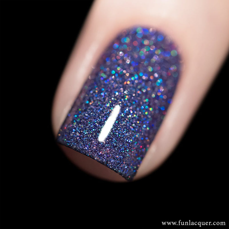 Rendezvous Purple Blue Holo Glitter Nail Polish